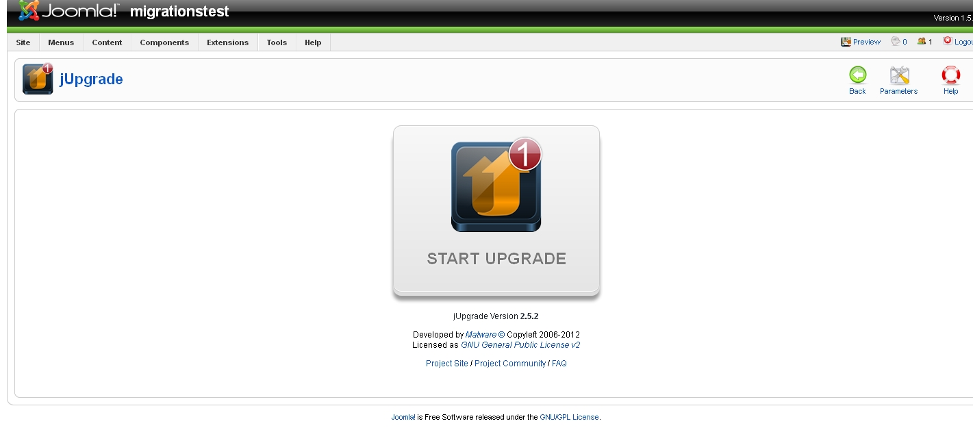 joomla_jupgrade_start