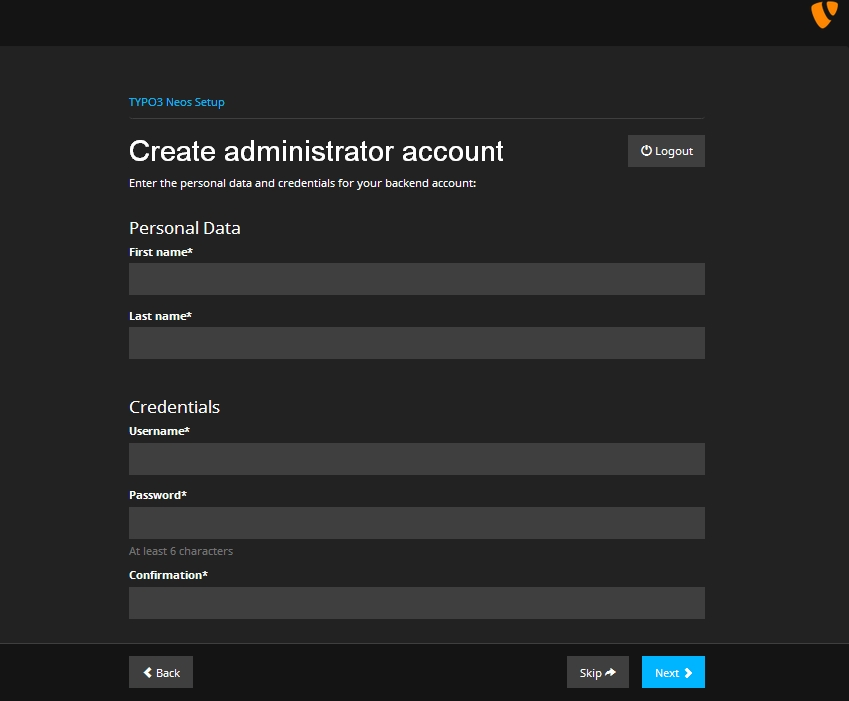 typo3_neos_install_account