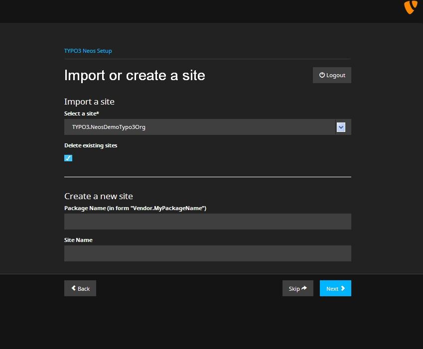 typo3_neos_install_generateSite