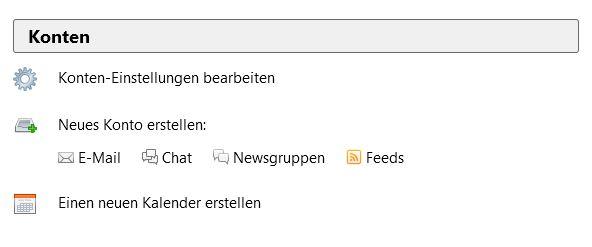 Screenshot Thunderbird Kontoeinstellungen