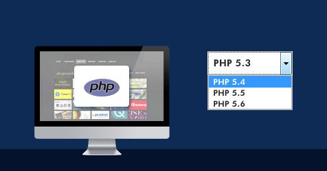 php Grafik- auswählbar sind auch die Versionen 5.3, 5.4 und 5.6