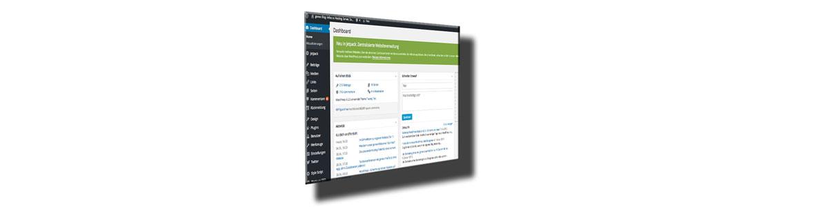 Das Dashboard von WordPress 4