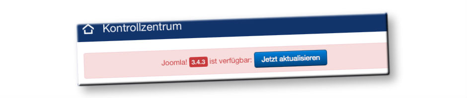 Updatebutton in Joomla 3.4 falls neue Versionen vorliegen
