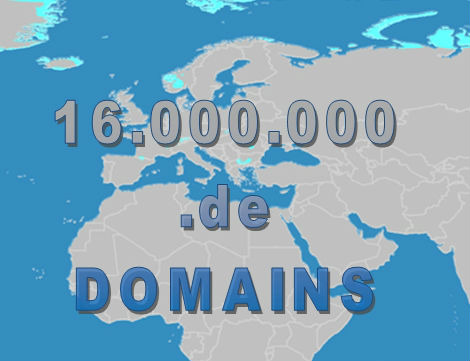 16 Millionen .de Domains im August 2015 registriert