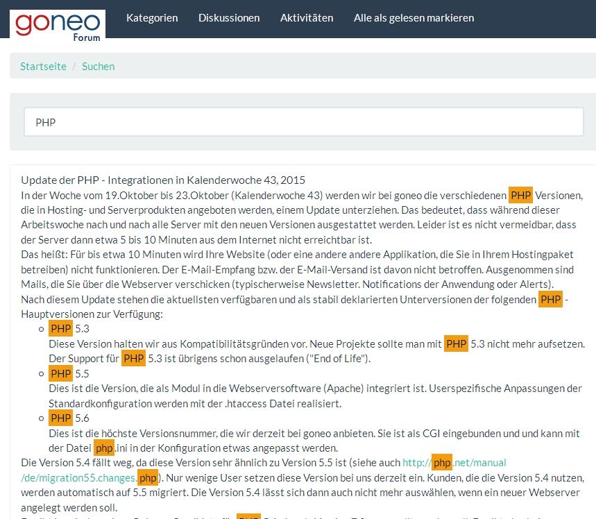 goneo Forum auf Basis von Vanilla Forums | goneo Blog