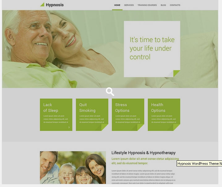 wordpress template hypnosis