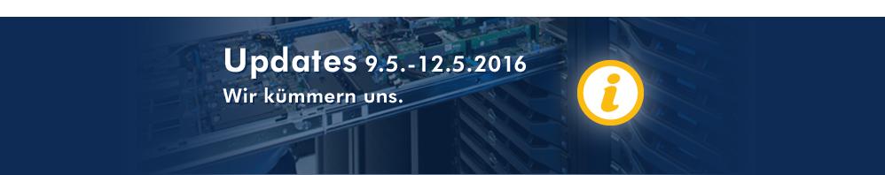 Serverupdate Ankündigung KW 19 2016