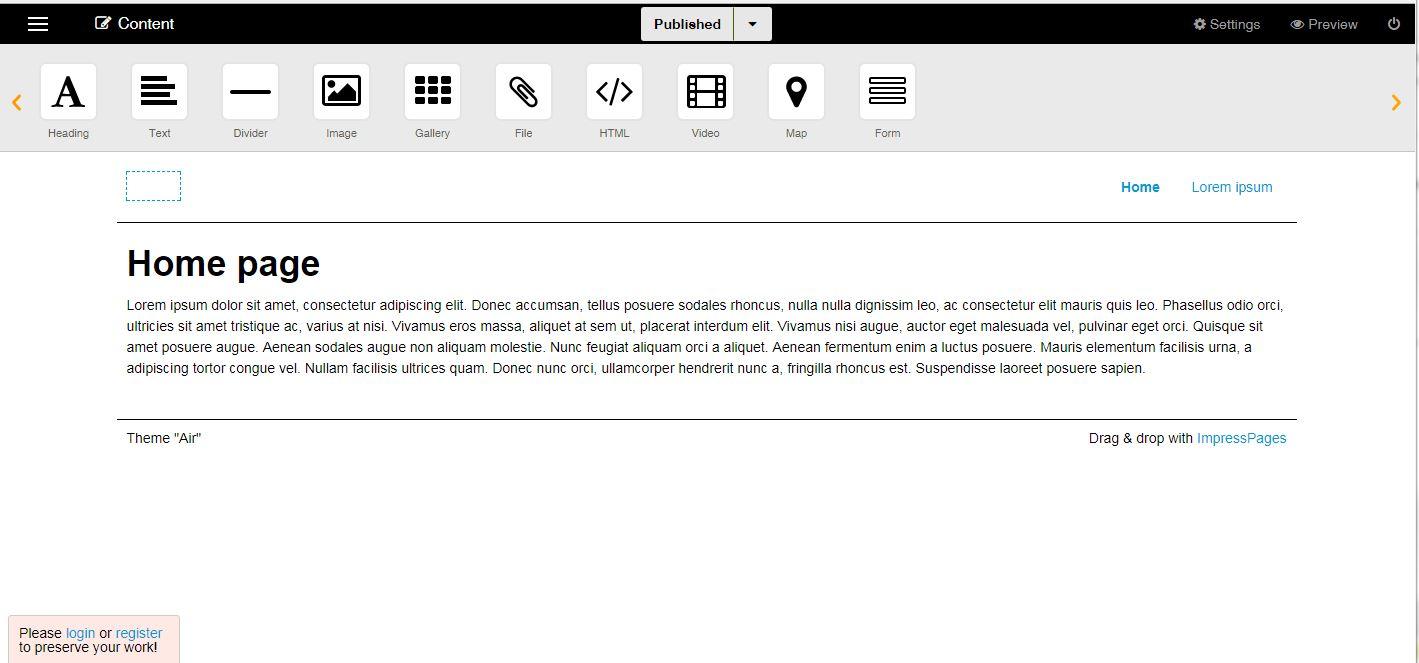 Impresspages 4.10.1 Screenshot