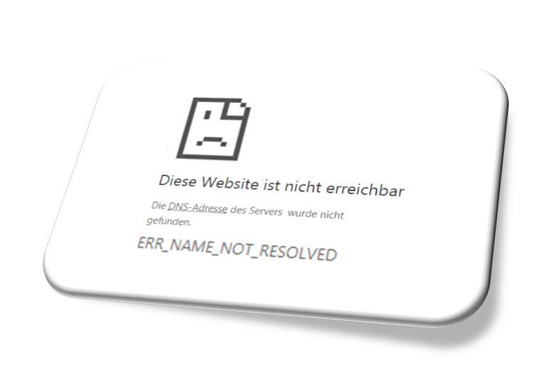 Beispiel Not resolved Errormeldung