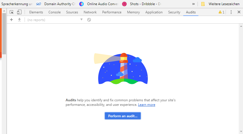 Audits (Lighthouse) in Chrome