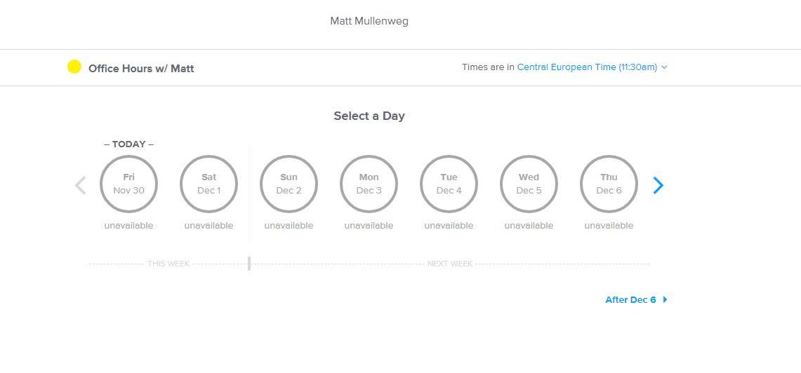 Screenshot Calendly Mullenweg WordPress 5