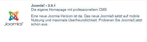 Joomla 3.9.1 in clickStart