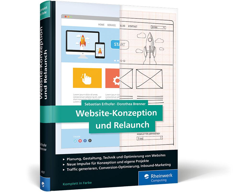 Cover Buch Titel Website Konzeption und Relaunch 2017 Rheinwerk