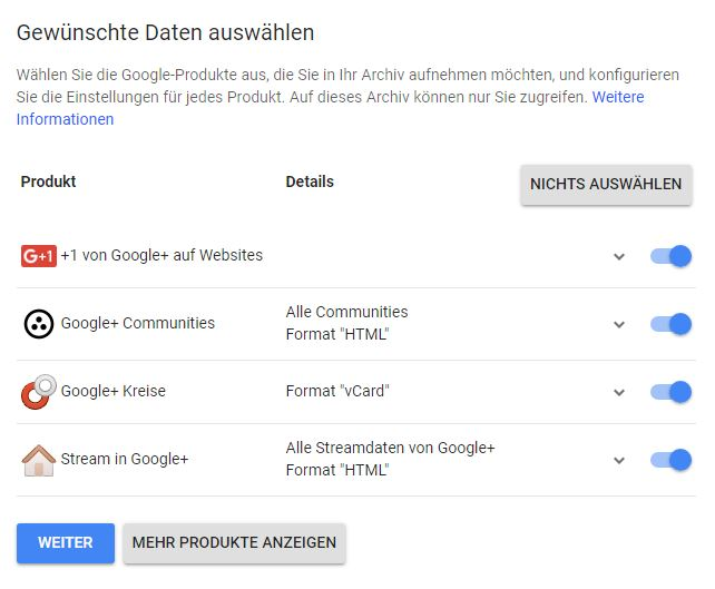 Takeout Google Screenshot