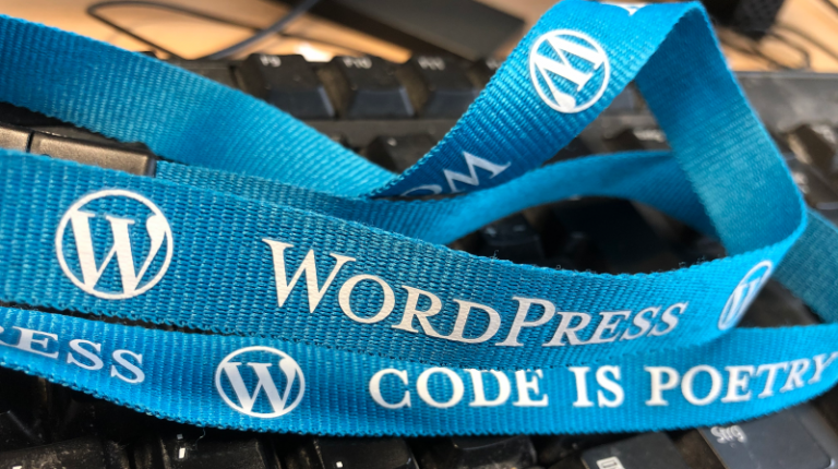 Wordpress Code is poetry Lanyard