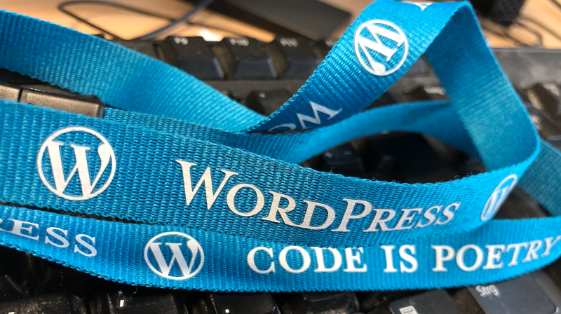 Wordpress Code is poetry Lanyard