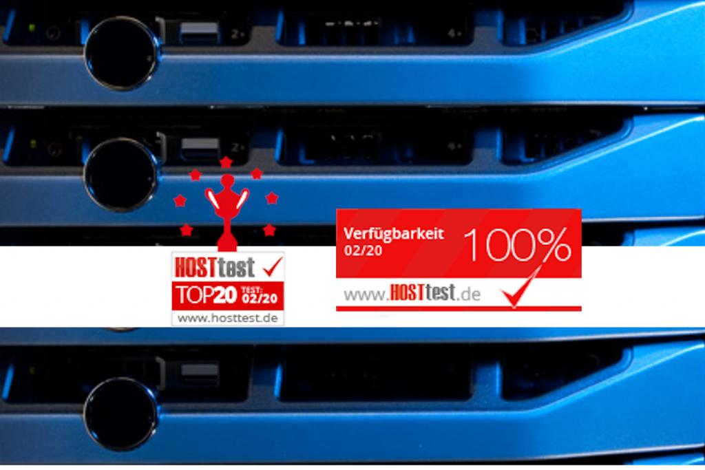 Hosttest überprüfung ergab: goeno Kundenwebsites waren im Februar 2020 zu 100% verfügbar.