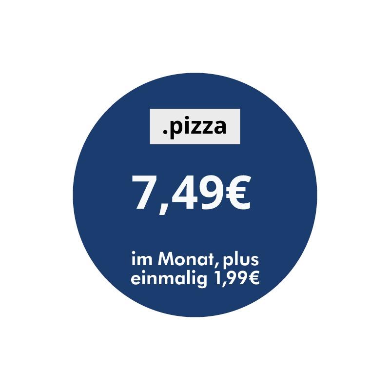 .pizza 7,49 Euro pro Monat