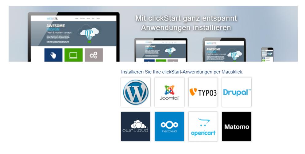 goneo clickStart - Webanwendungen schnell installieren